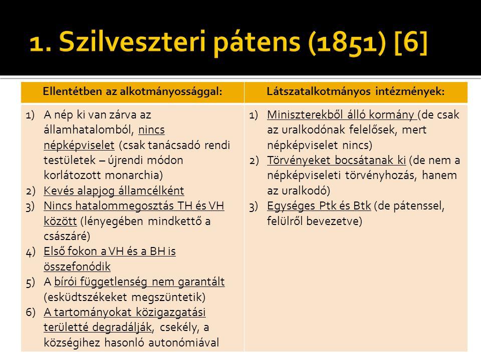 1. Szilveszteri pátens (1851) [6]